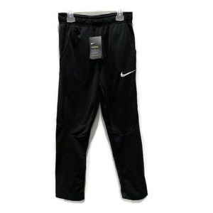 Nike Boys Black Therma Slim Dri-Fit Sweat Pants S